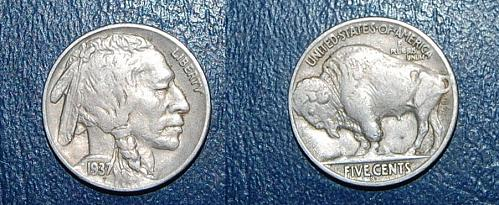1937-S Buffalo Nickel Nice Coin Full Horn