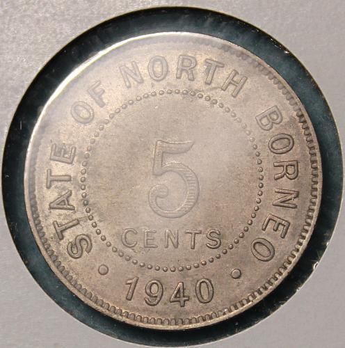 British North Borneo 1940H 5 cents