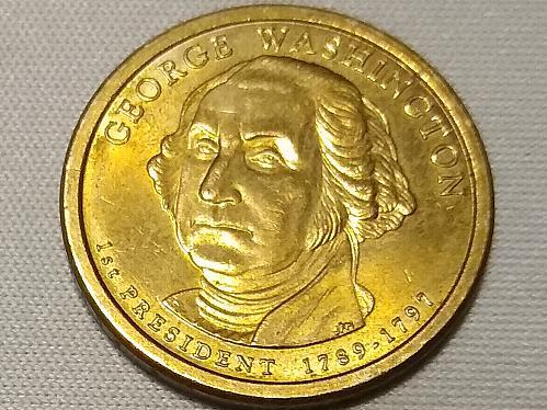 2007 P WASHINGTON DOLLAR COIN