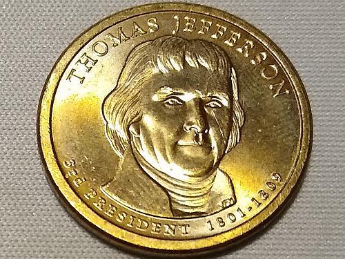 2007 P THOMAS JEFFERSON PRESIDENTIAL DOLLAR