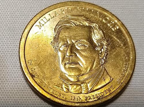 2010 P MILLARD FILLMORE PRESIDENTIAL DOLLAR