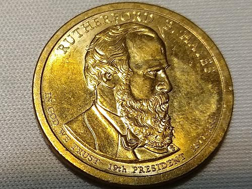 2011 P RUTHERFORD B. HAYES PRESIDENTIAL DOLLAR