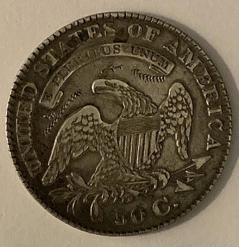 1829 P Capped Bust Half Dollar Very Fine condition Small Letters on Reverse
