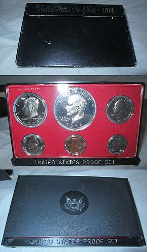 1974-S 1C-$1 BU Proof Set (Proof)