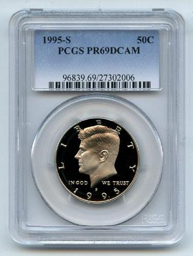 1995 S 50C Kennedy Half Dollar PCGS PR69DCAM