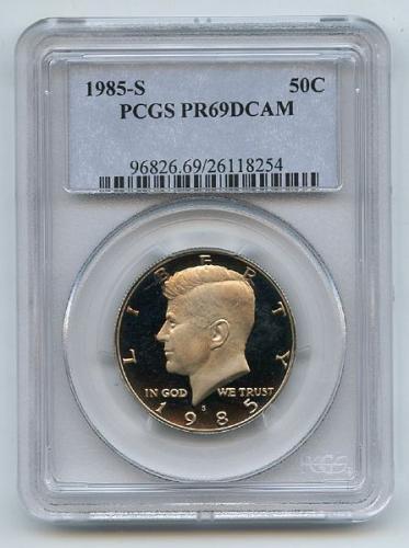 1985 S 50C Kennedy Half Dollar PCGS PR69DCAM