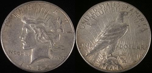 1926 S US $1 Peace Silver Dollar! Nice Circulated Coin!