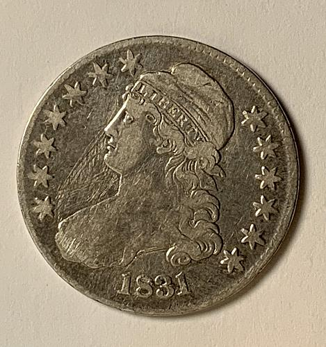 1831 P Capped Bust Half Dollar in  Fine Condition