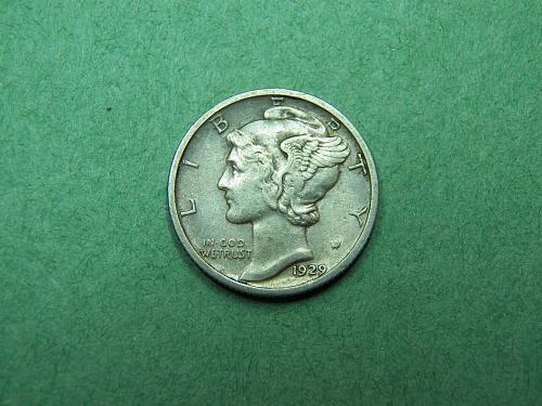 1929 D Mercury Dime Extra Fine Coin   u53