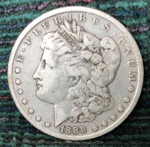 For sale a 1888 Philadelphia Morgan silver Dollar