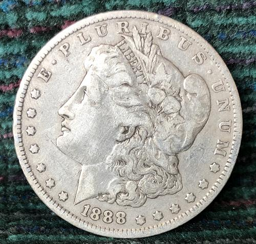 For sale a 1888 Philadelphia Morgan silver Dollar
