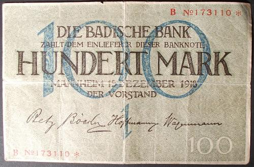 German States S907 100 Marks Fine+