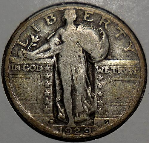 Standing Liberty Quarter 1929-D