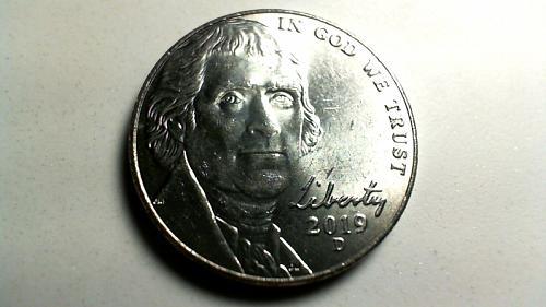 2019 D Jefferson Nickels