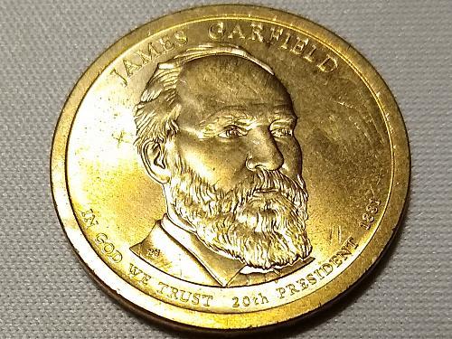 2011 P JAMES GARFIELD  PRESIDENTIAL DOLLAR