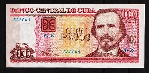 Cub2016 $100 Pesos Banknotes UNC