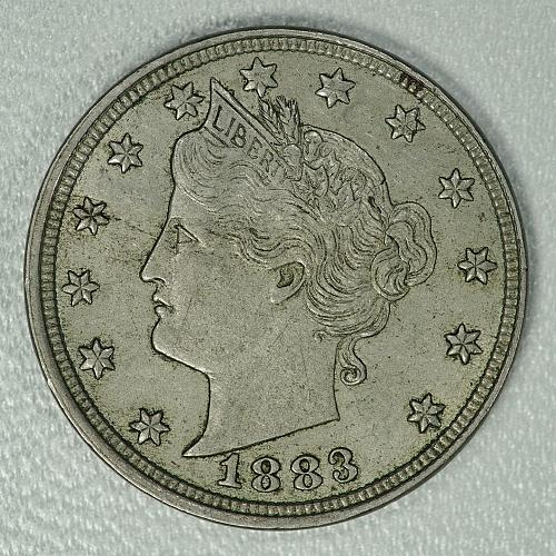 1883 No Cents Ch. XF Liberty Nickel, nice original coin with a lot of detail
