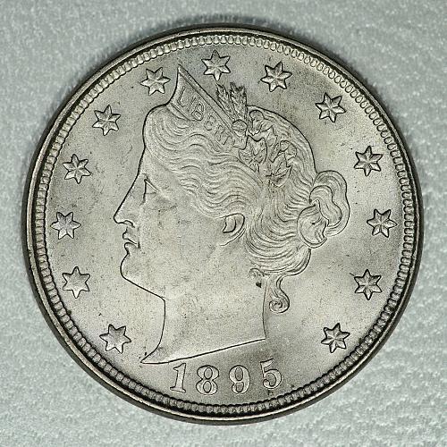 1895 Choice BU Liberty Nickel, honest BU beauty, strong luster & decent detail