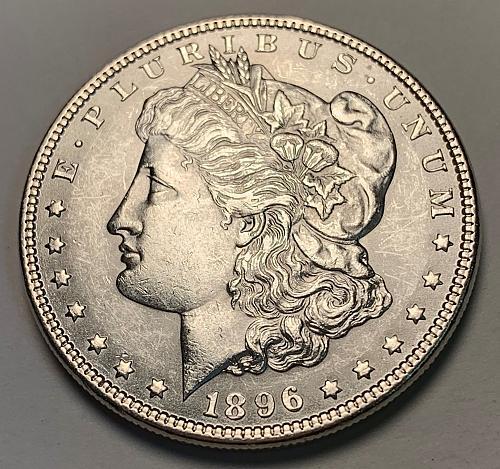 1896 Morgan Silver Dollar BU [MDL 217]