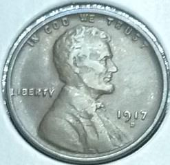 1917-D VF Lincoln Wheat cent in Very Fine ( W12419 )