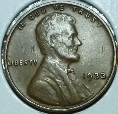 1933-P EXTRA FINE Lincoln Wheat Cent ( M12619 )