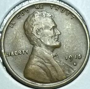 1915-S EXTRA FINE Lincoln Wheat Cent ( R12419 )