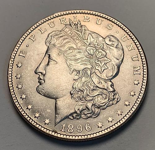 1896 Morgan Silver Dollar Slider UNC [MDL 233]