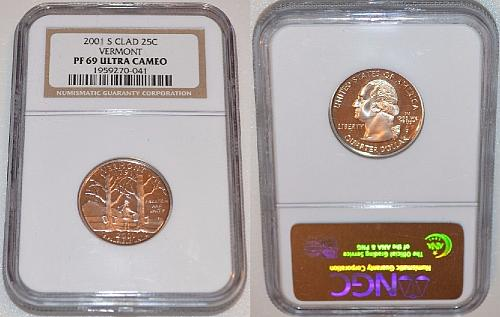 2001-S ~ VERMONT ~ NGC ~ PROOF 69 ULTRA CAMEO ~