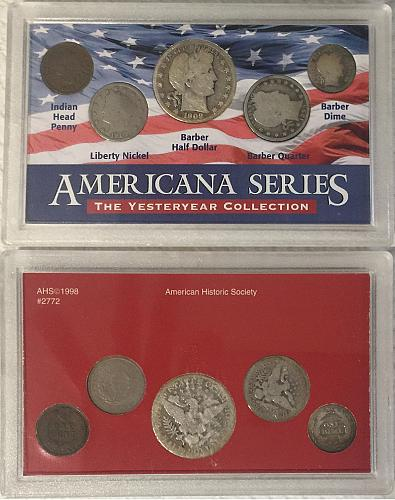 Americana Series Yesteryear Collection Silver Half Dollar, Quarter & Dime