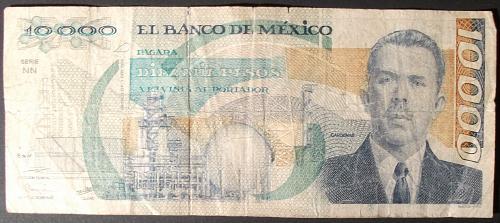 Mexico P90b 10000 Pesos VG
