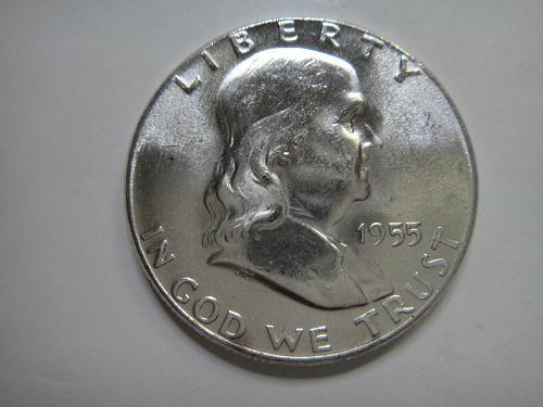 1955 Franklin Half Dollar MS-65 (GEM)