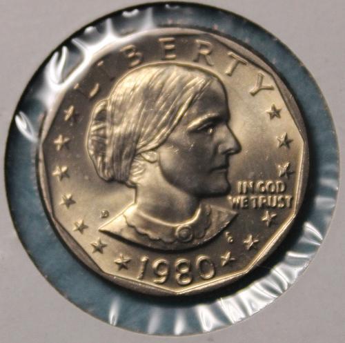 1980 D Susan B Anthony Dollar