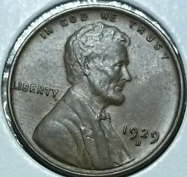 1929-D Uncirculated Lincoln Wheat Cent (C12619)