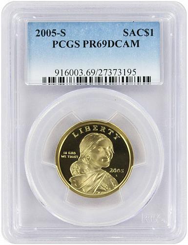 2005-S Sacagawea Dollar PR69DCAM PCGS Proof 69 Deep Cameo