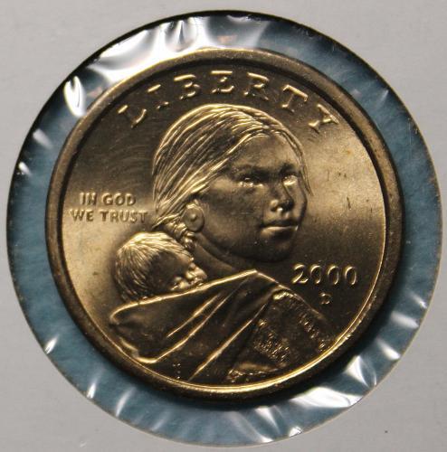 2000 D Native American & Sacagawea Dollar