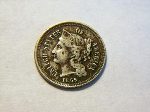 1865 3 Cent Nickel