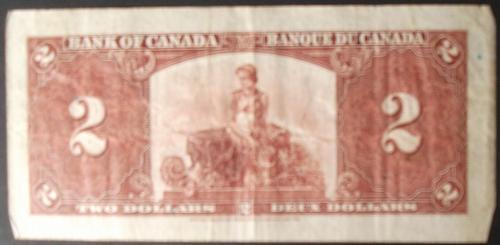 Canada P59a  2 Dollars Fine+