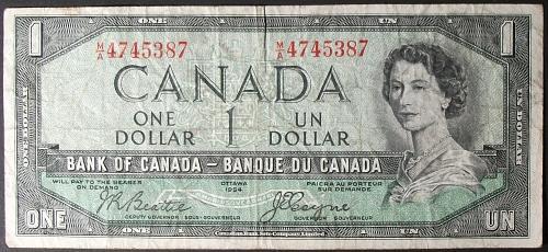 Canada P66b Dollar Fine Devil's Head