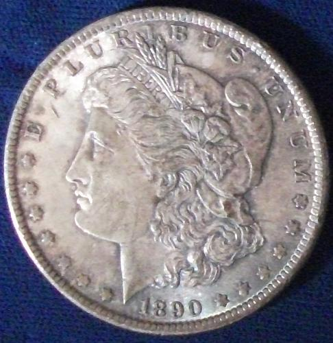 1890 Morgan Dollar AU+