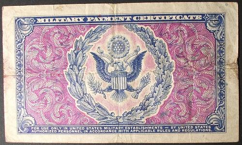 US MPC Series 481 Dollar VF