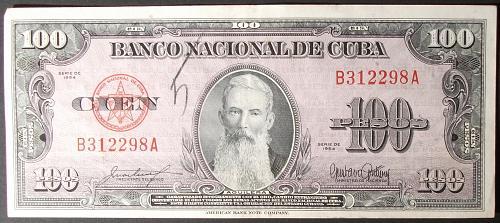 Cuba P82b 100 Pesos VF++