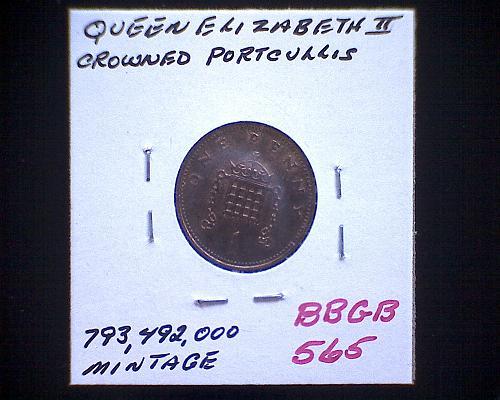 1988 GREAT BRITAIN ONE PENNY  QUEEN ELIZABETH 11