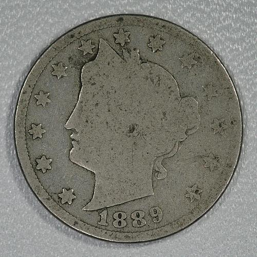 1889 Good Liberty Nickel, a nice looking very scarce early date for your set