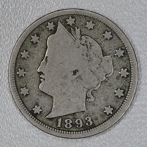 1893 Good Liberty Nickel, a fair looking piece for your set