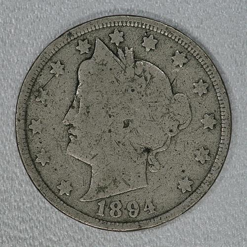 1894 Good Liberty Nickel, very scarce later issue in fair shape