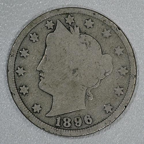 1896 Good Liberty Nickel, very scarce later issue in fair shape