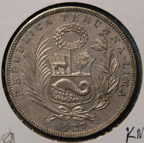 Peru 1927 1/2 Sol