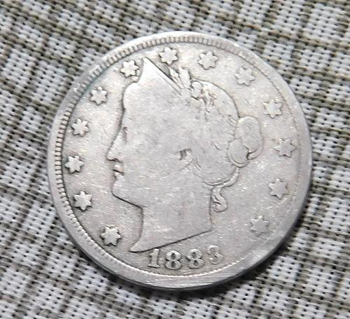 1883 Liberty V Nickel, N/C