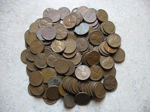 One Pound Wheat Pennies - (1909 thru 1958)