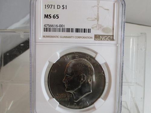 1971 D Eisenhower Dollar: Type 2 - Common Reverse
